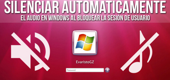 Mutear automáticamente el audio en Windows.
