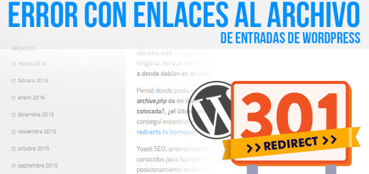 Error con enlaces al archivo de entradas de WordPress.
